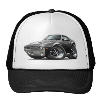 1968-69 AMX Black Car Trucker Hat