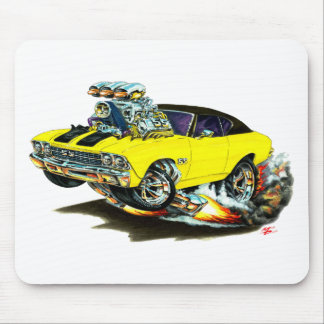 1968-69 Chevelle Yellow-Black Top Car Mouse Pad