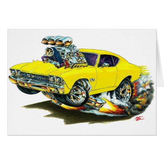 1968-69 Chevelle Yellow Car Card