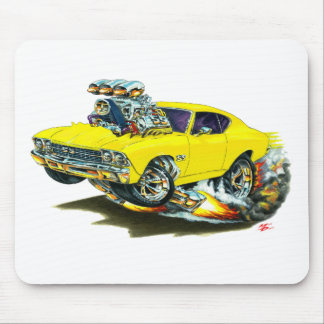 1968-69 Chevelle Yellow Car Mouse Pad