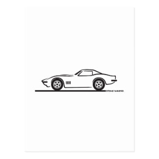 1968-69 Corvette Postcard