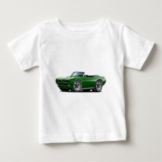 1968-69 GTO Dk Green Convertible Baby T-Shirt