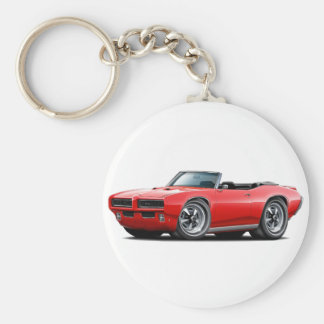 1968-69 GTO Red Convertible Keychain