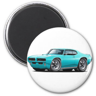 1968-69 GTO Turquoise Car Magnet
