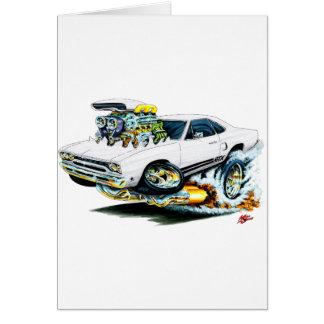 1968-69 Plymouth GTX White Car Card