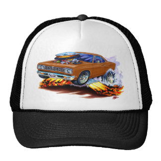 1968-69 Roadrunner Brown Car Trucker Hat