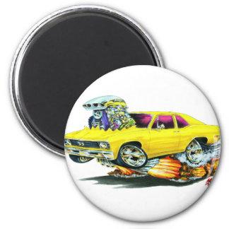 1968-70 Nova Yellow Car Magnet