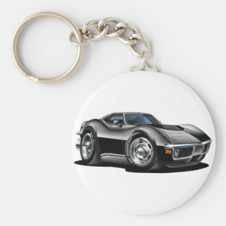 1968-72 Corvette Black Car Keychain
