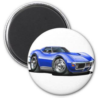 1968-72 Corvette Blue Car Magnet
