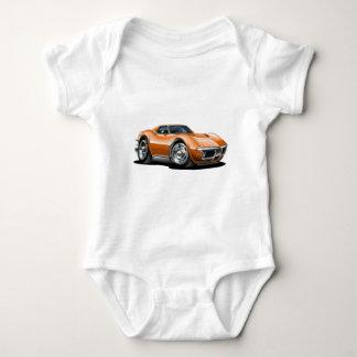 1968-72 Corvette Orange Car Baby Bodysuit