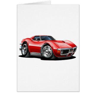 1968-72 Corvette Red Car Card