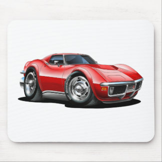 1968-72 Corvette Red Car Mouse Pad