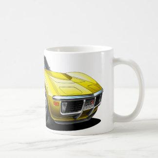 1968-72 Corvette Yellow Car Coffee Mug