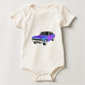 1968 AM Muscle Car in Purple and Blue Baby Bodysuit