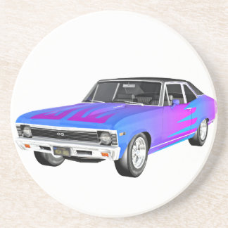1968 AM Muscle Car in Purple and Blue Coaster