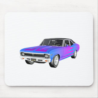 1968 AM Muscle Car in Purple and Blue Mouse Pad