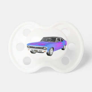 1968 AM Muscle Car in Purple and Blue Pacifier