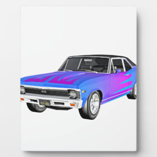 1968 AM Muscle Car in Purple and Blue Plaque