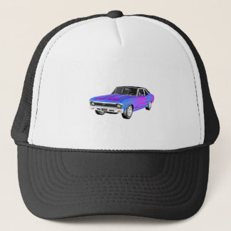 1968 AM Muscle Car in Purple and Blue Trucker Hat