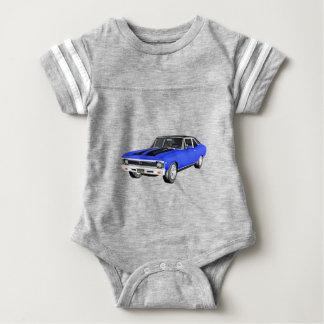 1968 Blue Muscle Car Baby Bodysuit
