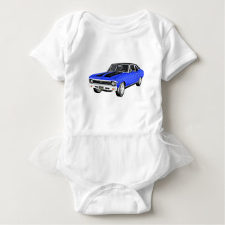 1968 Blue Muscle Car Baby Bodysuit