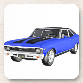 1968 Blue Muscle Car Coaster