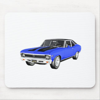 1968 Blue Muscle Car Mouse Pad