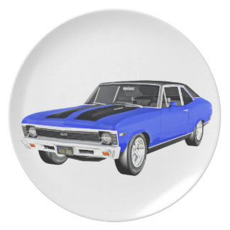 1968 Blue Muscle Car Plate