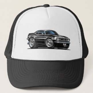1968 Camaro Black-White Car Trucker Hat