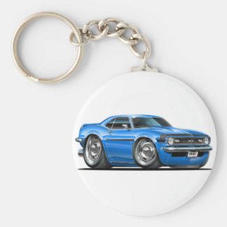 1968 Camaro Blue-Black Car Basic Round Button Keychain