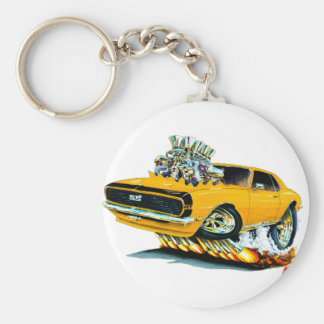 1968 Camaro Orange-Black Car Keychain