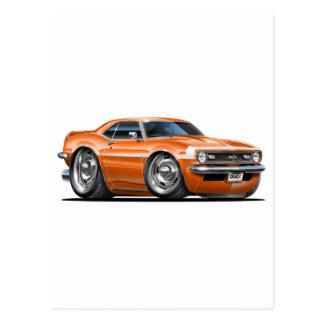 1968 Camaro Orange-White Car Postcard