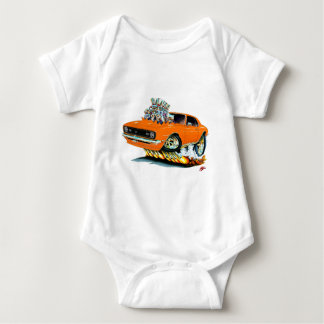 1968 Camaro SS Orange Car Baby Bodysuit