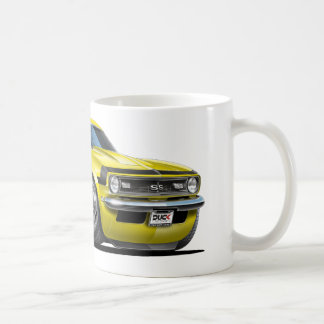 1968 Camaro Yellow-Black Car Coffee Mug