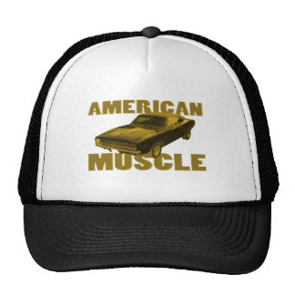 1968 charger golden american muscle trucker hat