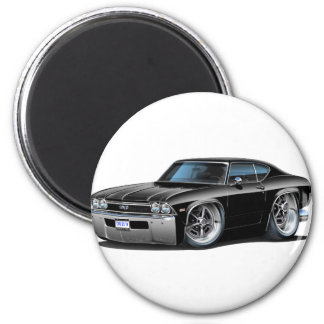 1968 Chevelle Black Car Magnet