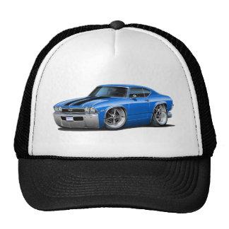 1968 Chevelle Blue-Black Car Trucker Hat