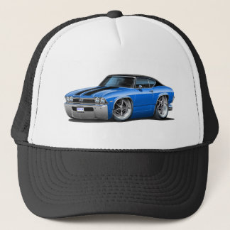 1968 Chevelle Blue-Black Stripes Trucker Hat