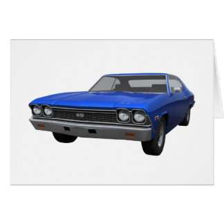 1968 Chevelle SS: Blue Finish Card