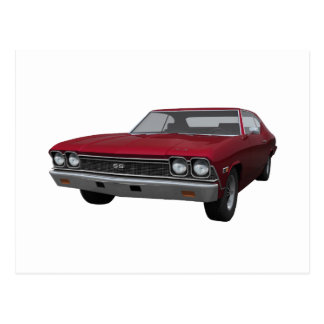 1968 Chevelle SS: Candy Apple Finish Postcard