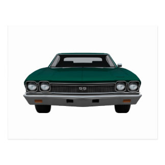 1968 Chevelle SS: Green Finish Postcard