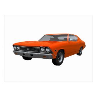 1968 Chevelle SS: Orange Finish Postcard