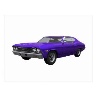 1968 Chevelle SS: Purple Finish Postcard