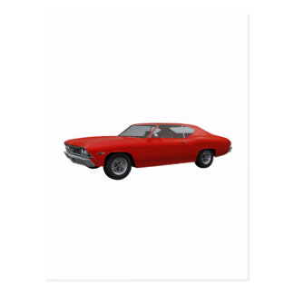 1968 Chevelle SS: Red Finish Postcard