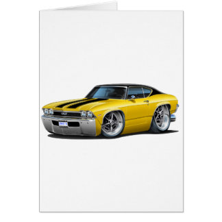 1968 Chevelle Yellow-Black Stripes Card