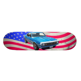 1968 Chevrolet Camaro And American Flag Skateboards