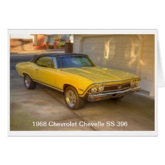 1968 CHEVROLET CHEVELLE SS 396 CARD