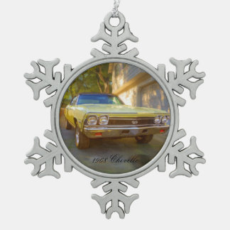 1968 CHEVROLET CHEVELLE SS PEWTER SNOWFLAKE ORNAMENT