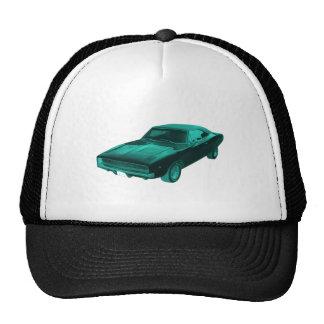 1968 dodge charger blue mopar trucker hat