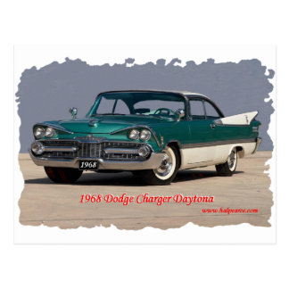 1968 Dodge Charger Daytona Postcard